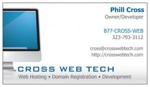 cross-web-tech-business-card